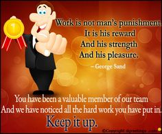 appreciation note to employee Dgreetings - Show your appreciation for an employee with this card . Appreciation Images, Appreciation Note, Employee Appreciation, Employee Day, Employee Thank You, George Sand, Senior Activities, Thank You Quotes, Social Work