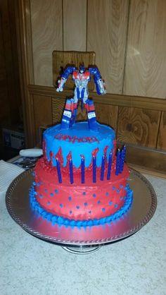 Optimus Prime cake for my nephews birthday!