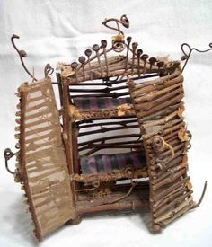 """SALE, Photo Card of Fairy Furniture, """"The French Country Armoire"""". $2.50, via Etsy."""