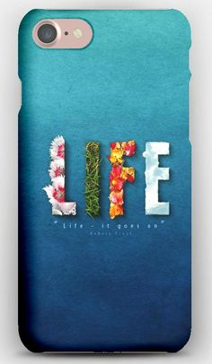 iPhone 7 Case Life, Bright, Colors, Flowers, Sweet