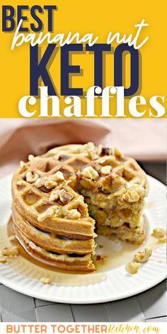 Low Carb Desserts, Fun Desserts, Low Carb Recipes, Healthy Recipes, Diabetic Recipes, Mini Waffle Recipe, Waffle Recipes, Bread Recipes, Carbquik Recipes