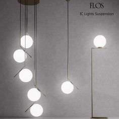 Metal Ceiling Lighting, Lighting Collections, Flos, Minimalist Chandelier, Flos Light, Lights, Hanging Lights, Lighting Trends, Ceiling Lights