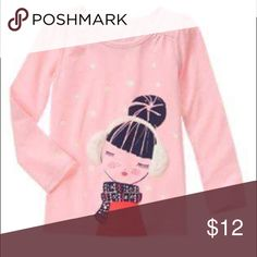 Gymboree NWT size 7 Girls Gymboree size 7 NWT.  Cute pink too girl with earmuffs and scarf. Fair Isle Flurry line. Sfpf Gymboree Shirts & Tops Tees - Long Sleeve