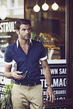 Different colour collar and cuffs are a great way to stand out from the crowd
