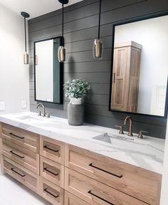 Bathroom Renos, Small Bathroom, Master Bathroom, Charcoal Bathroom, Bathroom Cabinets, Bathroom Ideas, Master Bath Remodel, Style Deco, Upstairs Bathrooms
