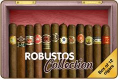 Cuban cigar : The Robusto Collection (box of 12)
