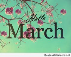 Hello March Inspirational Spring image