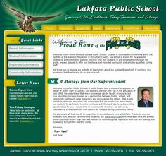 Lukfata Public School's new website. Improved navigation. Parent's can find what they need. That's key! #school