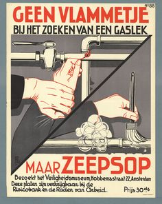 Dutch Safety posters ~ W. van Poll #Safety #Holland