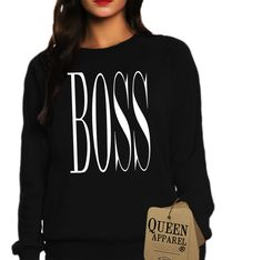 Queen Apparel- Shop all products. Brand name Queen Apparel authentic womens clothing. Tops, Tanks tops, seatshirts, Hoodies and more. Fashionable womens and girls clothing. Boss Lady, Girl Boss, Womens Trendy Tops, Feminist Shirt, Holy Chic, Blogger Style, Sweat Shirt, Girl Outfits, Graphic Sweatshirt