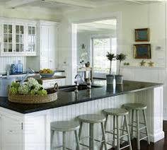 green kitchen white cabinets - Google Search