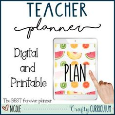 Stop purchasing yearly planners and build your own with this one! This Fruit Rae Dunn font style planner is perfect and simple for all of your planning needs. This is dateless so you can use it year after year and will not need to purchase again! Teacher Inspiration, Classroom Inspiration, Teacher Planner, Teacher Organization, Activity Days, Holiday Activities, Yearly, Lesson Plans, Planners