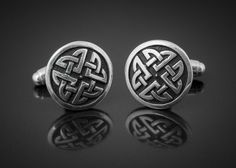 Meigle Cufflinks - Silver #wedding #handcrafted #Silver #ScottishJewelry #CelticJewellery