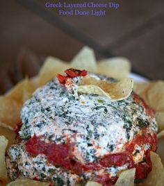 Greek Layered Cheese Dip www.fooddonelight.com #cheesedip #greekdip #fetadip #healthydip