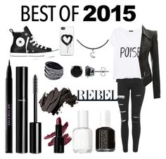 """best of 2015"" by joellesmolenaers on Polyvore featuring mode, Topshop, MANGO, Converse, BERRICLE, Essie, Chanel, Urban Decay, Bobbi Brown Cosmetics en Zero Gravity"