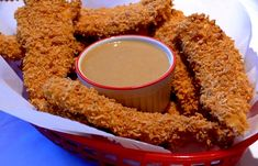 Crispy Chicken Fingers with Honey-Mustard Sauce   Noblepig.com