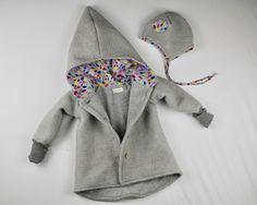 Jacken - Walkjacke Baby Kinder mit Baumwollfleece gefüttert - ein Designerstück von mini_me_berlin bei DaWanda