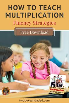Multiplication fluency can be a hard road to travel. But it doesn't have to be! Check out these fluency strategies that I teach my students to attain multiplication fact fluency. Fluency is not about automatic recall - sometimes our memory fails! So that's why students need strategies to help them gain fluency with the multiplication facts. Discover and learn more about these strategies then download a FREE GUIDE to Multiplication Fluency.#twoboysandadad #multiplication Teaching Numbers, Teaching Math, Student Learning, Mental Math Strategies, Math Tips, Learning Multiplication, Multiplication Strategies, Thing 1, Common Core Math