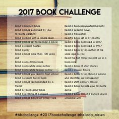 A book challenge I created - check my website for more details!