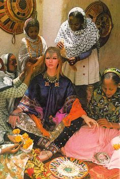vintage, gyspsy, tribal, jewellery, indian    Photo by Norman Parkinson, 1969.