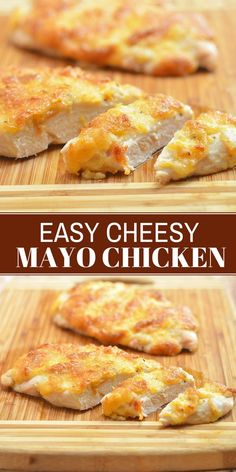 Easy Peasy Cheesy Mayo Chicken – Onion Rings & Things The simple trick to super moist baked chicken? With melt-in-your-mouth tender chicken and a golden, creamy crust, this Easy Peasy Cheesy Chicken is sure to become a family favorite. Moist Baked Chicken, Simple Baked Chicken Recipes, Chicken Strip Recipes, Recipe For Chicken, Recipes For Chicken Tenders, Boneless Chicken Recipes Easy, Simple Food Recipes, Kid Friendly Chicken Recipes, Chicken Fillet Recipes