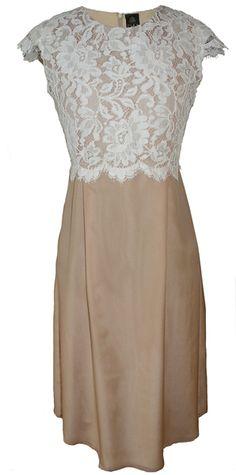 Abendkleider - secret PAL- edles Kleid rosé Seide creme Spitze - ein Designerstück von SecretPal bei DaWanda