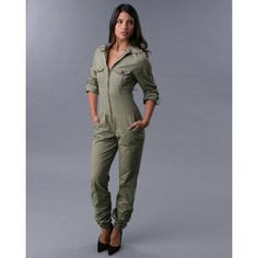 pilot jumpsuit costume | Rocawear Women Air Force Jumpsuit - Jumpsuits - Olive - Reviews ...