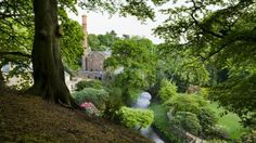 A view of Quarry Bank Mill and the Greg House from Quarry Bank Garden