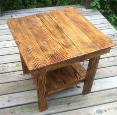 Rustic Pallet Wood End Table / Nightstand by HelgerudHomeDesigns, $99.00