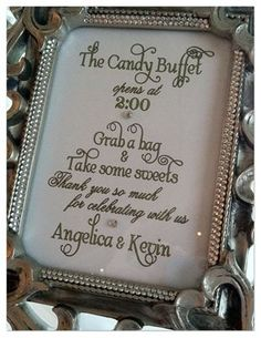 The Candy Buffet sign - wedding games - Candy Buffet Signs, Candy Buffet Tables, Dessert Buffet, Dessert Tables, Candy Signs, 60th Birthday Party, Sweet 16 Birthday, Birthday Ideas, Baby Shower