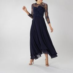 The Mylene bow lace top combines classic lace with a modern bodice for a statement look. Team this bridesmaid top with our Amy skirt or Iridesa skirt to ensure your bridal party make a very stylish entrance on the big day. Coast Bridesmaid Dresses, Bridesmaid Tops, Navy Lace, Catwalk, Dress Up, Bridal, Stylish, Outfits, Bow