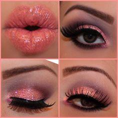 Pink Valentine makeup!