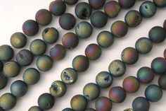 Galactic Druzy Beads from Voices of the Stones