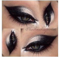 Perfect silver & black eyeshadow idea