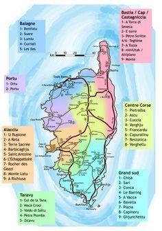 Une jolie carte avec les sites d'escalade #topo #corse... Ca donne des idées !