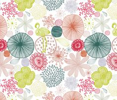 Sweet Paradise fabric by demigoutte on Spoonflower - custom fabric