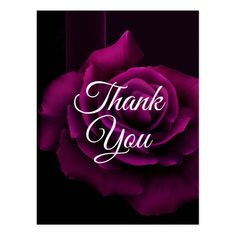 Shop Gothic Purple-Red Rose Flower Thank You Postcard created by AxisMundi. Thank You Gifs, Thank You Pictures, Thank You Images, Thank You Quotes, Rose Quotes, Flower Quotes, Thank You Postcards, Thank You Cards, Thank You Messages For Birthday