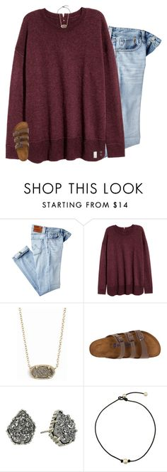 """""""made plans with you and i won't let em fall through"""" by preppin ❤ liked on Polyvore featuring AG Adriano Goldschmied, Kendra Scott, Birkenstock and Native Union"""