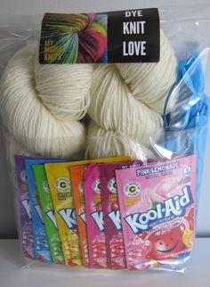 Dye & Knit DK Wool Rainbow Dye Kit with Hat Pattern #afflink