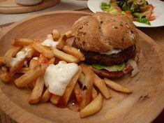 Portobello burger s hranolkami