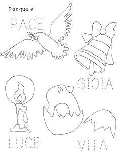 Alphabet Activities, Preschool Activities, Felt Keychain, Italian Language, Learning Italian, Happy Easter, Origami, Stencils, Applique