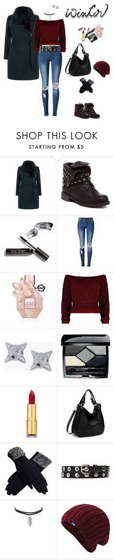 """Winter"" by clauxsanchex on Polyvore featuring moda, New Look, Bobbi Brown Cosmetics, WithChic, Viktor & Rolf, Dsquared2, Christian Dior, Isaac Mizrahi, Witchery y Keds"