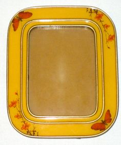 Vintage metal and enamel picture frame butterflies flowers 70s era by sweetalicelovesyou on Etsy