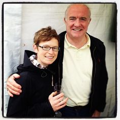 Food hero Rick Stein with fan & fellow food charmer Monica Shaw @ Rock Oyster Festival  #Cornwall #England #UK