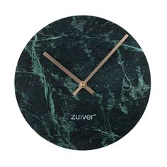 MARBLE TIME WALL CLOCK in Green | Greenery | Marble Trend | Marble Interiors | Green Home Accessories | Unique Clock