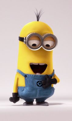 Despicable Me - Ken (Chris Renaud) is a tall two-eyed minion with sprout-cut hair. Ken is a slacker and often spend his time playing video games in his work session. He also has a soft spot for animals, as he saves the kittens from being eaten by Mike. Minions Fans, 3 Minions, Funny Minion Memes, Minions Quotes, Minion Rush, Bad Minion, Minion Movie, Minion Party, Minion Wallpaper Iphone