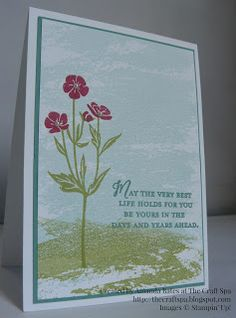 The Craft Spa - Stampin' Up! UK independent demonstrator : Another Wild About Flowers card