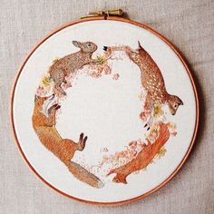 """I am so excited to have finished this 8""""hoop! :) I've been working on this for 4 weeks and I'm super chuffed with the outcome!! : :) http://instagram.com/emillieferris"""