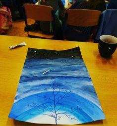 vesmír výtvarná výchova Art Activities, Art Projects, Diy Crafts, Artwork, Window, Painting, Education, School, Work Of Art