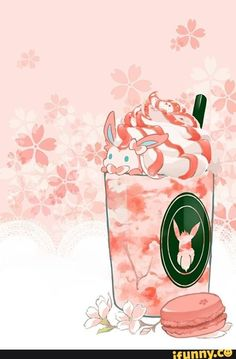 Cherry blossom sylveon! This is very very cuuuuuuuuuute!♡♡ It looks so tasty^^(expect sylveon)